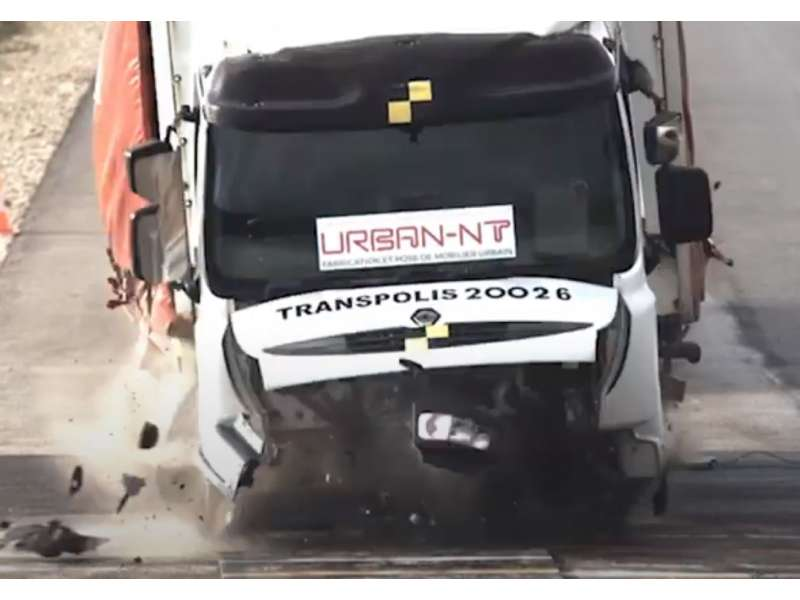 Crash-test K4 (camion 7.5to à 48 km/h)