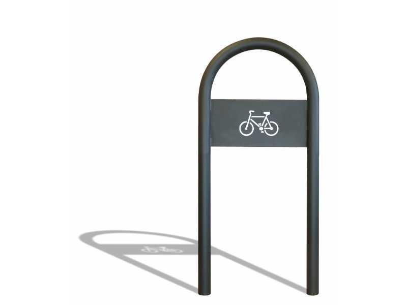 Appui vélo Saxo - 2900 Sablé avec plaque