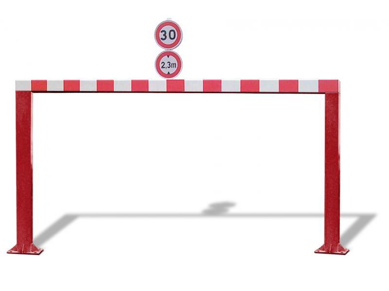 Gabarit De Passage Fixe - Tube Carré - RAL3001