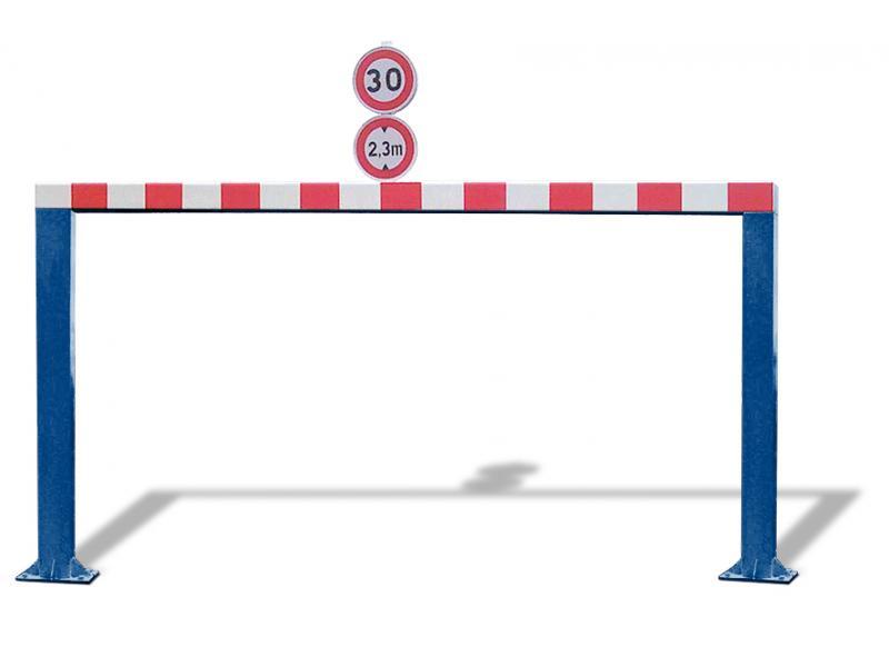 Gabarit De Passage Fixe - Tube Carré - RAL5010
