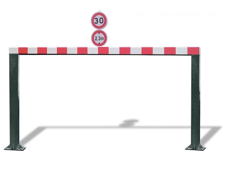 Gabarit De Passage Fixe - Tube Carré - RAL6012