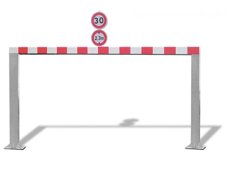 Gabarit De Passage Fixe - Tube Carré - RAL7030