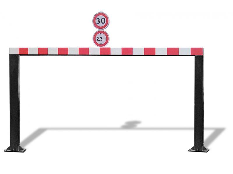 Gabarit De Passage Fixe - Tube Carré - RAL9005