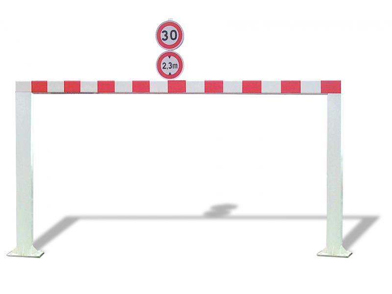 Gabarit De Passage Fixe - Tube Carré - RAL9010