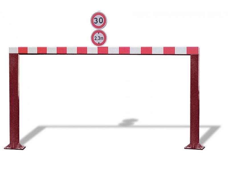 Gabarit De Passage Fixe - Tube Carré - Rouille Givrée