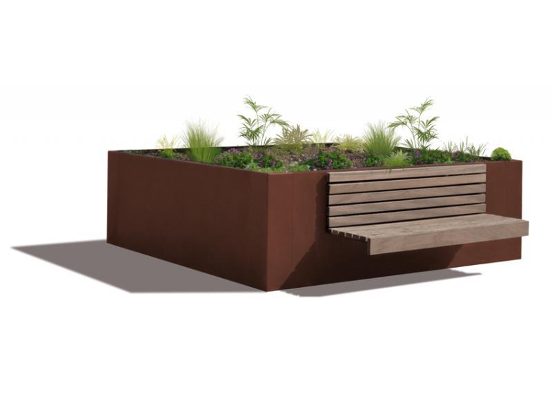 Jardinière Hanaba Plus - Rouille Givrée