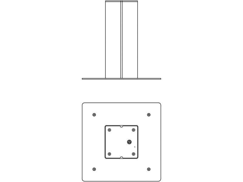 Borne semi-automatique Merelle - Plan