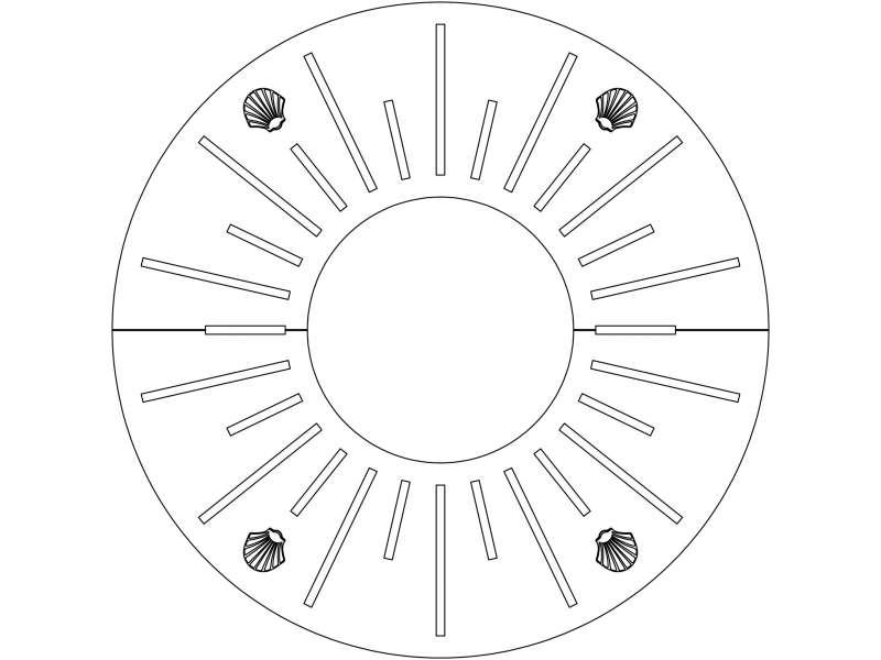 Grille d'arbre Merelle Ronde - Plan