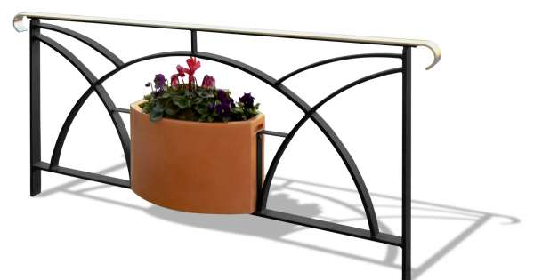 Languedocienne option jardini re urban nt - Jardiniere comme garde corps ...