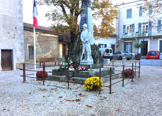 garde-corps de protection statue